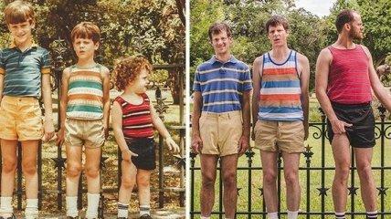 Потрясающие воссоздание детских снимков из семейного альбома (Фото)