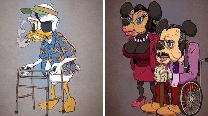 Очень непривычно: самые известные персонажи мультфильмов в старости