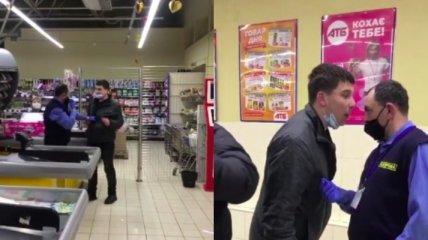 Во львовском магазине пьяный мужчина подрался с охранником за банку слабоалкоголки (видео)
