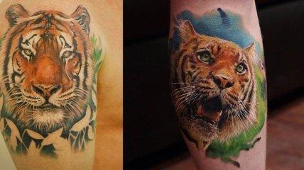 Стильные татуировки с изображением тигра, которые понравятся любому (Фото)