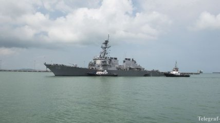 Столкновение эсминца с танкером: признаков саботажа нет