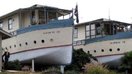 Шикарные дома из старых кораблей (Фотогалерея)