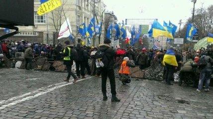 Активисты заблокировали все подъезды к ВР, Кабмину, АП и МВД