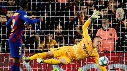 Барселона с Месси не смогла обыграть Славию в Лиге чемпионов