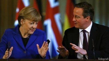 Меркель и Кэмерон выступают за создание торговой зоны межу ЕС и США