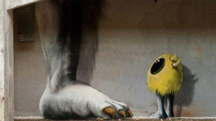 Милые рисунки на стенах заброшенных зданий Берлина (Фото)