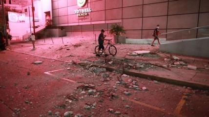 Землетрясение началось вечером.