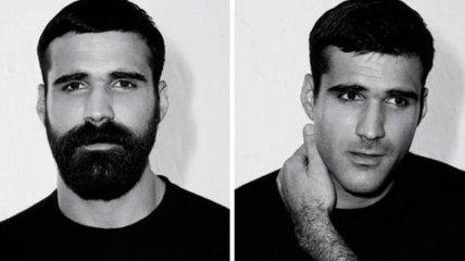 До и после: удивительные преображения мужчин, сбривших бороду (Фото)