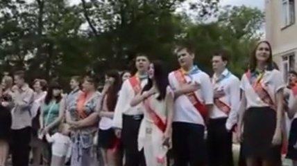 В Крыму спели гимн Украины под музыку российского гимна (Видео)