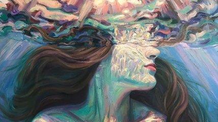 Девушки в воде: живописные картины калифорнийской художницы (Фото)