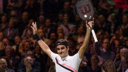 Федерер победил в юбилейном матче