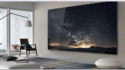 The Wall Luxury: безрамочный телевизор-стена с диагональю 7,4 метра от Samsung