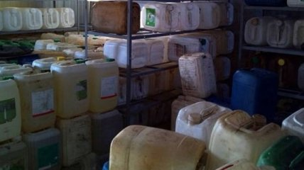 СБУ изъяла тонны контрабандного бензина и алкоголя в зоне АТО