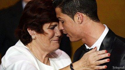 Роналду встретил маму, которая вернулась после инсульта (Фото)