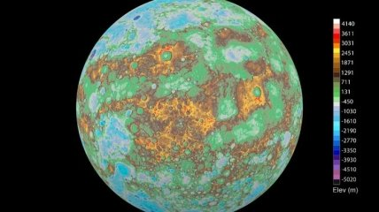 NASA представило физическую карту Меркурия (Видео)