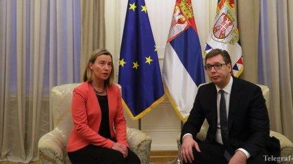 Могерини призвала к сохранности мира в Косово