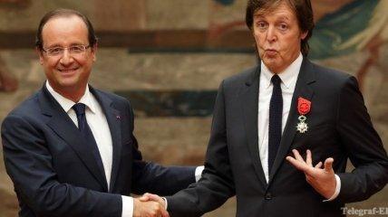 Олланд торжественно вручил Полу Маккартни орден Почетного легиона