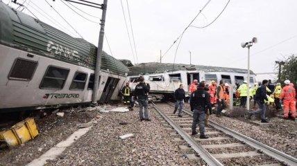 Возле Милана сошел с рельсов поезд: есть жертвы