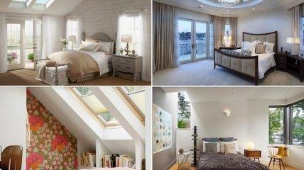 Необычайно стильные спальни с потолочными окнами (Фото)