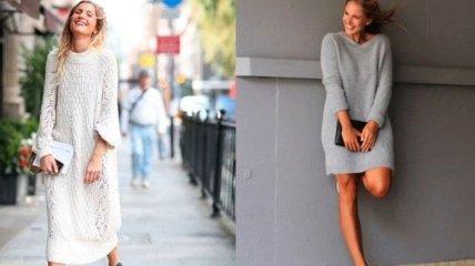 Незаменимая вещь в холода: стильные вязанные платья 2018-2019
