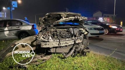 В результате ДТП пострадали пять автомобилей