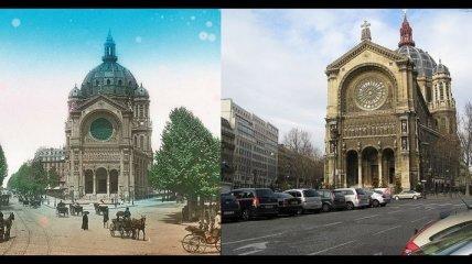 Прекрасный Париж в начале XX века и сейчас (Фото)