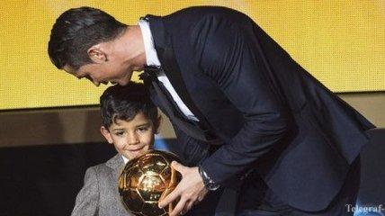 Роналду: Рад, что мой сын уже осознает почему я нахожусь на сцене
