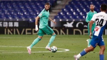 Реал минимально обыграл Эспаньол и единолично возглавил Ла Лигу