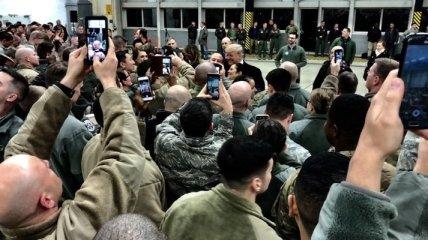 Трамп посетил американскую военную базу в Германии