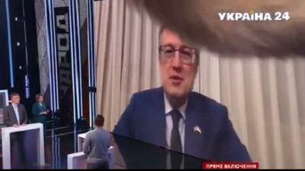 Помахал всем хвостом: ворвавшийся в прямой эфир кот Антона Геращенко повеселил украинцев (курьезное видео)