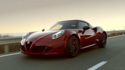 Встречайте Alfa Romeo 4C (Видео)