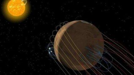 """Космический аппарат MAVEN нашел у Марса закрученный магнитный """"хвост"""""""