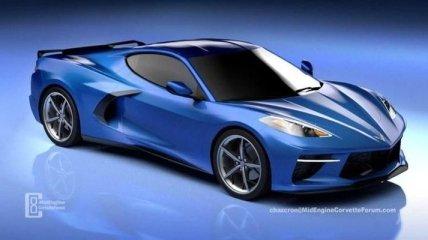 В сети появились изображение нового поколения купе Corvette (Видео)