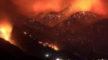 Як у фільмі жахів: в мережі опублікували відео з вогнища пожеж в Туреччині