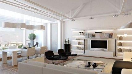 Превосходные дизайны для квартир-студий (Фото)