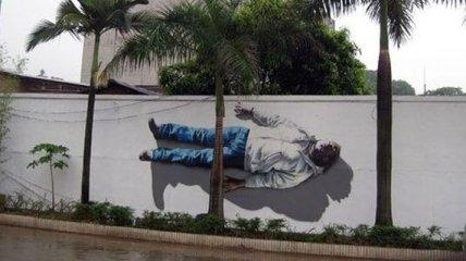 Настоящий талант художника: необычные уличные работы (Фото)