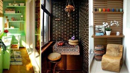 Оригинальные идеи, которые помогут преобразить маленький балкон (Фото)