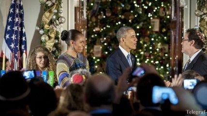Президентская семья поздравила американцев с Рождеством