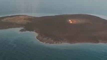 Взрыв грязевого вулкана в Каспийском море: в сети показали видео последствий