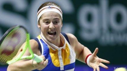 Остапенко одержала свою первую победу на Итоговом турнире WTA-2017