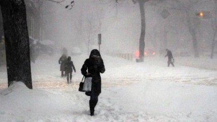 Одессу снова заметает снегом