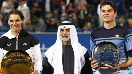 Надаль обыграл Раонича в финале турнира в Абу-Даби