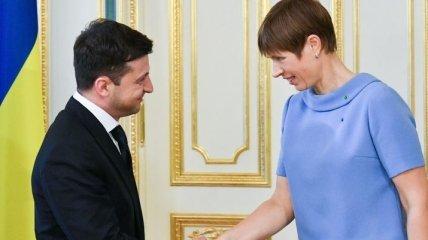 Кальюлайд на встрече с Зеленским заверила, что Эстония продолжит быть другом Украины