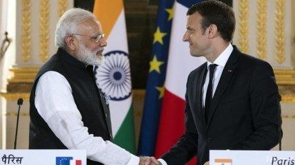 Макрон: Франция и Индия объединят свои усилия для борьбы с изменением климата