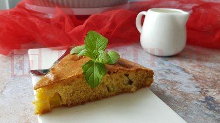 Пиріг з ревенем на кефірі: легкий і простий покроковий рецепт з фото