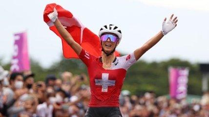 Швейцарки заняли весь пьедестал в маунтинбайке на Олимпийских играх