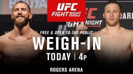 UFC Fight Night 158: результаты взвешивания (Видео)