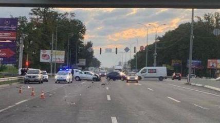 Авария случилась на оживленном участке трассы.