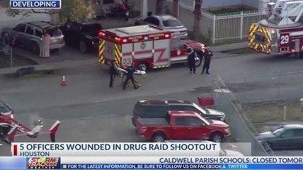 В Техасе произошла перестрелка, пострадали пятеро полицейских