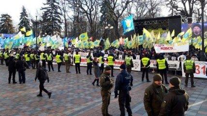 Заседание парламента: под Радой снова собираются митингующие